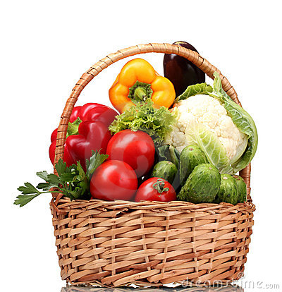 Free Fresh Vegetables In Basket Stock Photo - 22105740