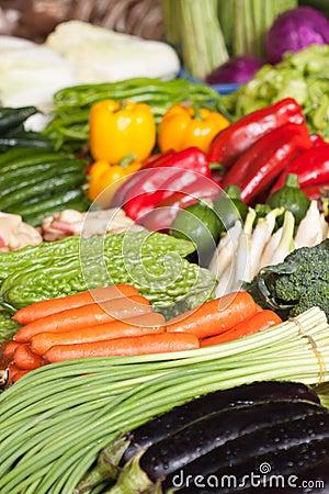 Fresh vegetables in market