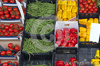 Fresh vegetables market