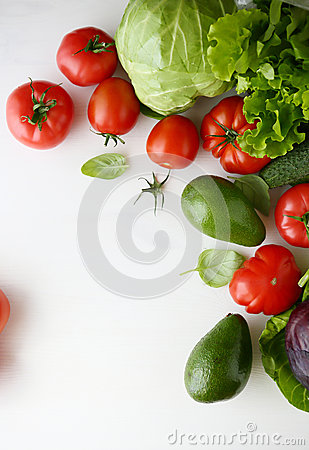 Free Fresh Vegetables On A White Background Royalty Free Stock Photography - 56051677