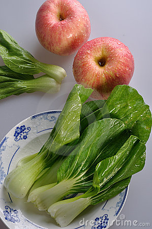 Fresh Vegetables and red apples