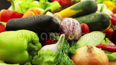 Fresh vegetables stock video footage