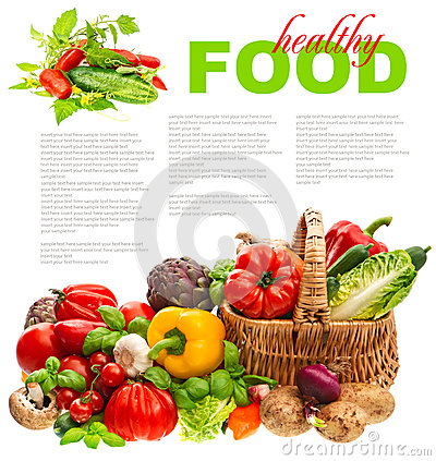 Free Fresh Vegetables. Shopping Basket. Healthy Nutrition Stock Images - 34767254