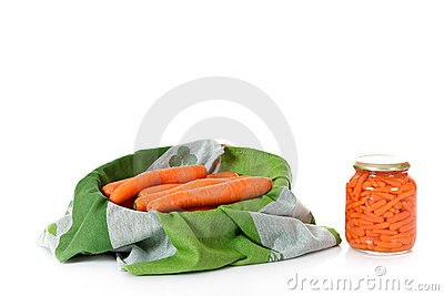 Fresh versus canned carrots