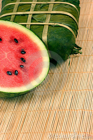 Free Fresh Water Melon And Rice Cake Royalty Free Stock Photo - 1837925