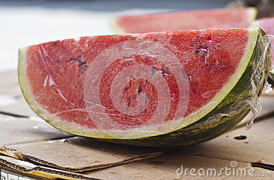 Fresh water melon slices