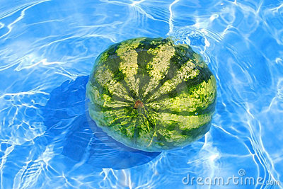 Fresh water-melon in water