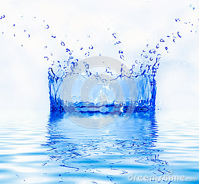 Fresh water splash
