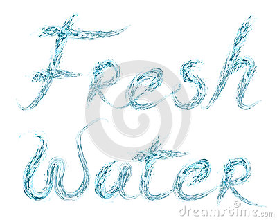 Fresh Water word on white