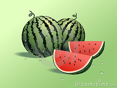 Fresh watermelons