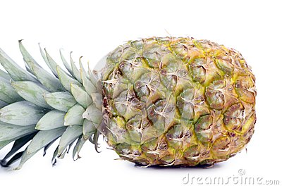 Fresh whole pineapple.