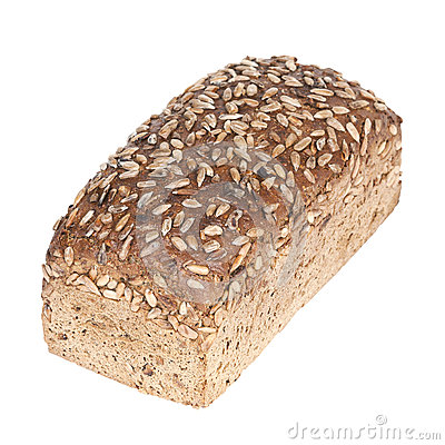 Fresh wholewheat bread with sunflower seeds