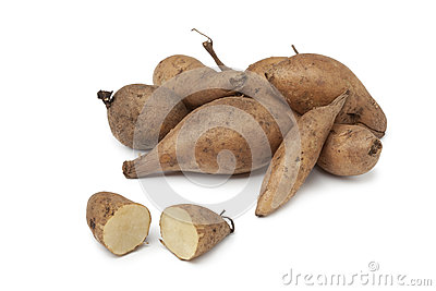 Fresh Yacon roots