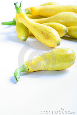 Fresh yellow squash from the garden vertical