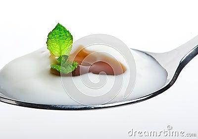 Fresh yogurt with cream