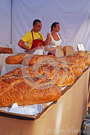 Freshly Baked Bread sold at Stall Editorial Stock Image