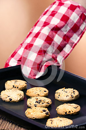 Free Freshly Baked Chocolate Chip Cookies Royalty Free Stock Image - 38745946