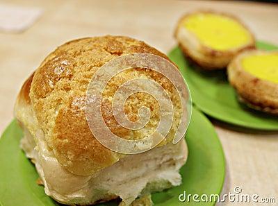 Freshly baked delicious crispy bun