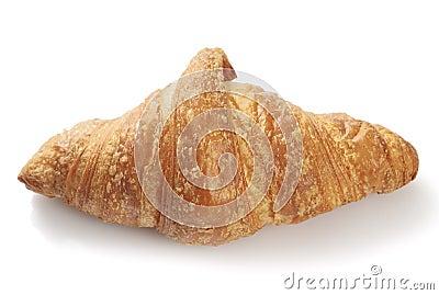 Freshly baked flaky croissant