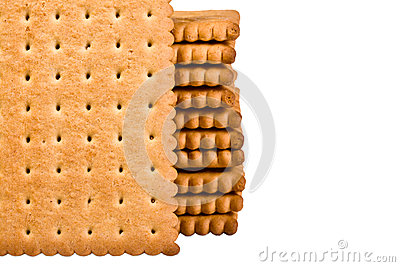 Freshly baked wheat biscuits