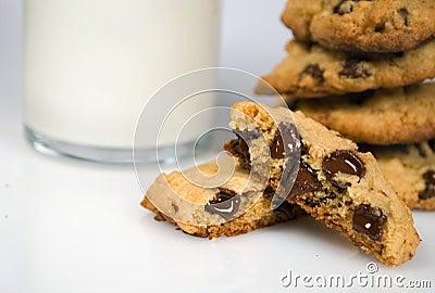 Freshly bakes chocolate chip cookies