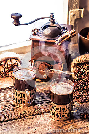 Free Freshly Brewed Coffee In The Old Style Stock Photo - 37280910
