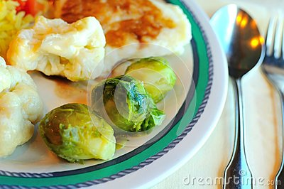 Freshly cooked vegetables