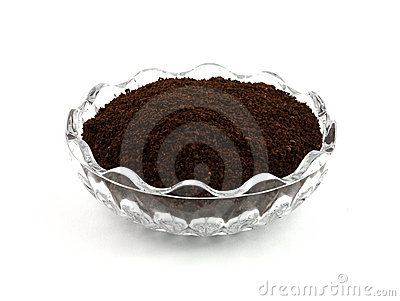 Freshly ground coffee