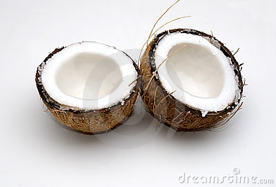 A Freshly Split Coconut