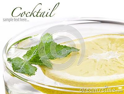 Freshness cocktail, lemon and mint