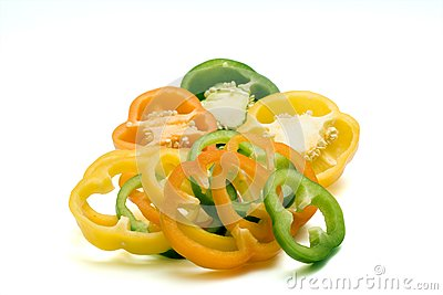 Freshness Paprika Over White Stock Images - Image: 6476804