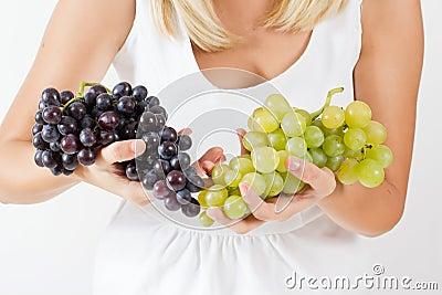 Freshness red grapes