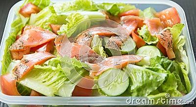 Freshness Slice Smoked Salmon Salad