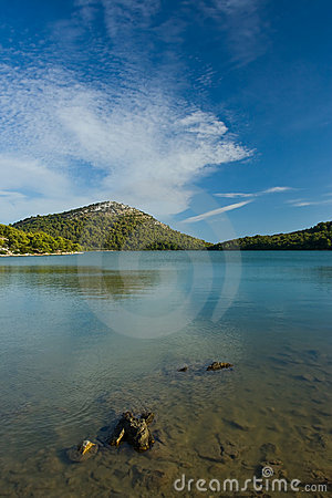 Freshwater lake on Adriatic sea island
