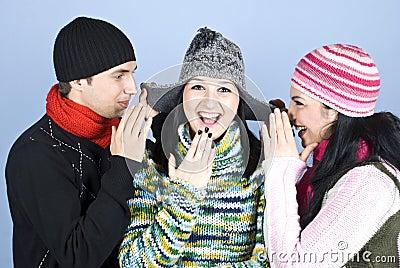 Freunde, die Geheimnisse und das Lachen erklären