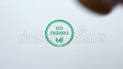 Freundliche Dichtung Eco gestempelt auf Hintergrund des leeren Papiers, biologisches Lebensmittel, Lebensstil stock video footage