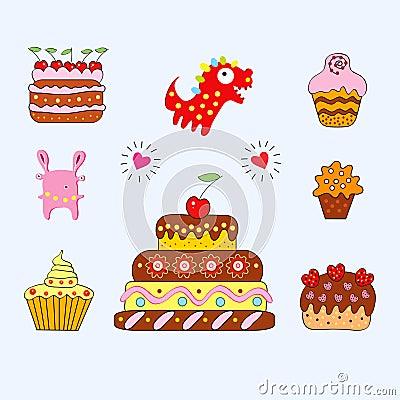 Freundliche Kuchen