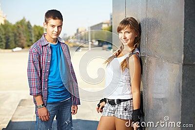 Freundlicher Teenager