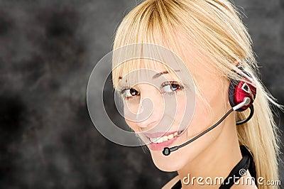 Freundlicher Telefonist