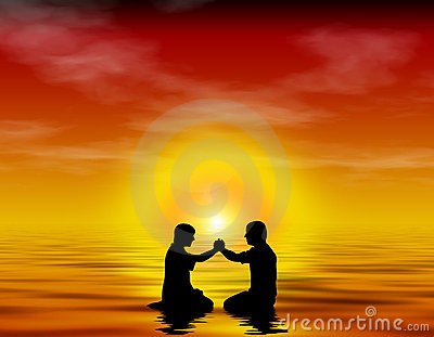 Freundschaft, Anbetung, Tauf