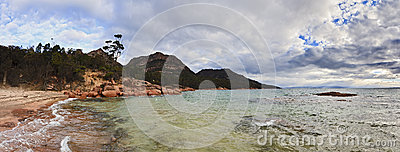 Freycinet Honeymoon Panorama