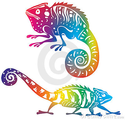 Färgad kameleont