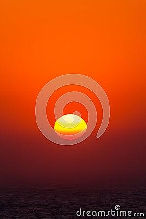 Färger för soluppgånghavnatur