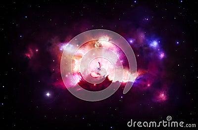 Färgrik nebula