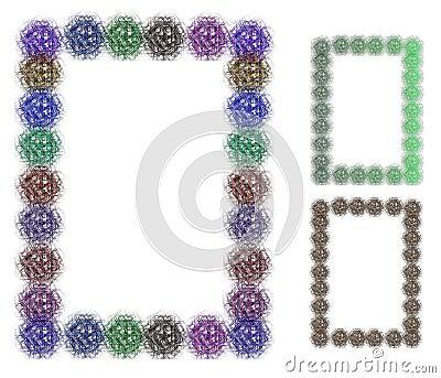 Färgrika dekorativa ramar