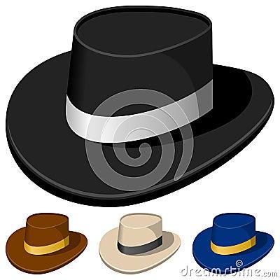 Färgrika hattar för män
