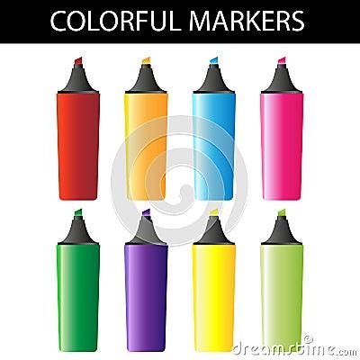 Färgrika markörer