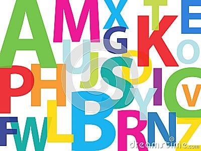 Färgrikt alfabet