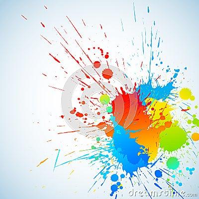 Färgrikt färgpulver