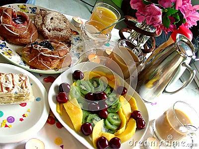 Frühstück-Szene